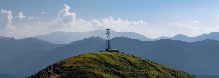 Radio Tower on Mountain